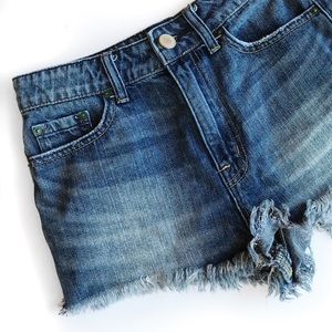 Urban outfitters bdg high rise cheeky denim shorts